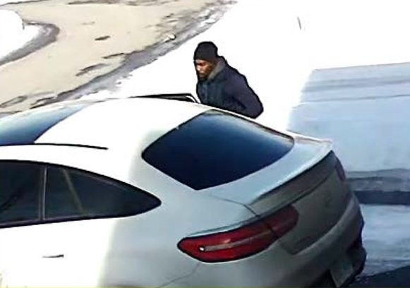 White vehicle and suspect