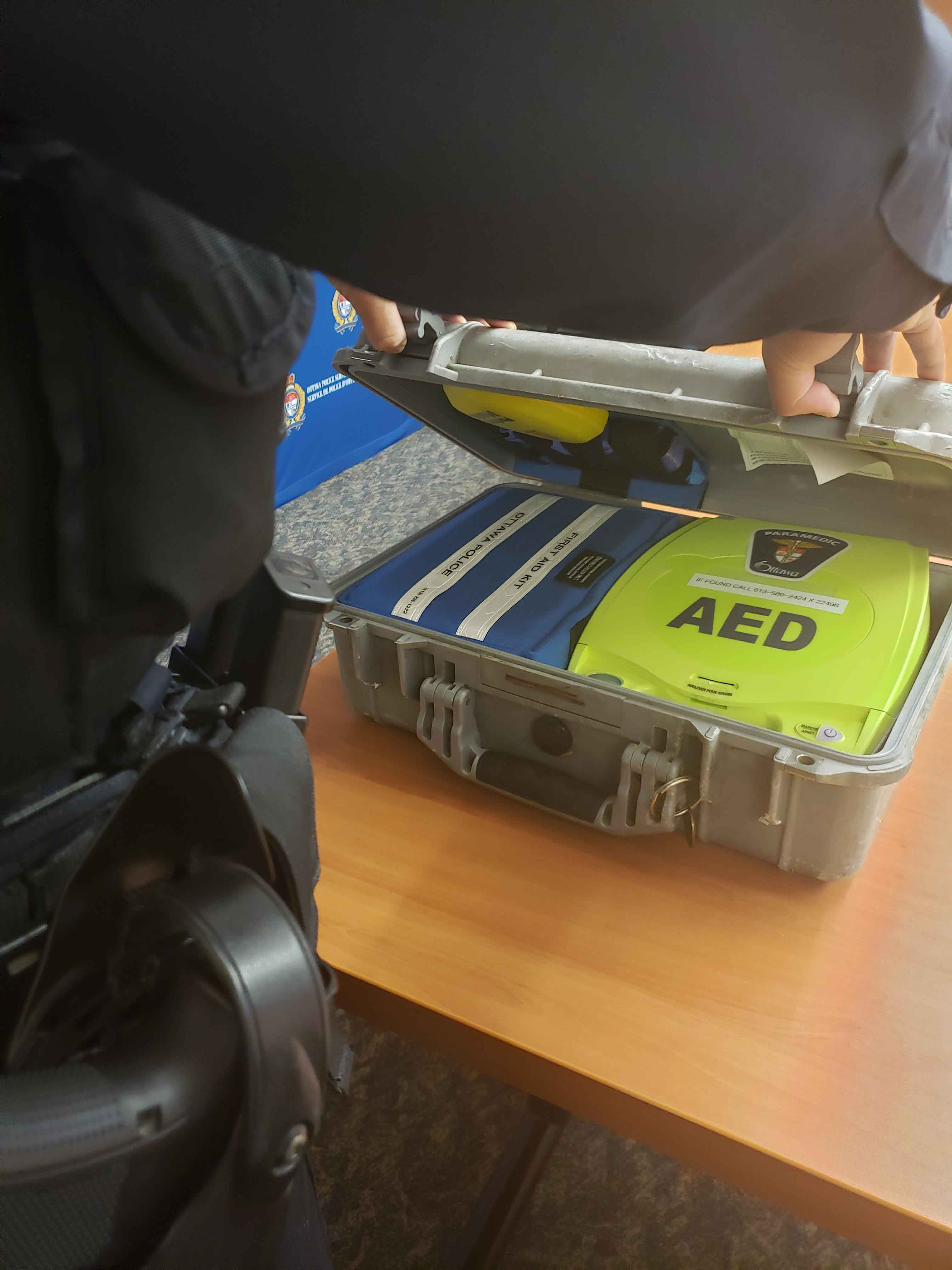 Officers carry defibrillators in their police cars