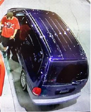Male suspect No1 with vehicle