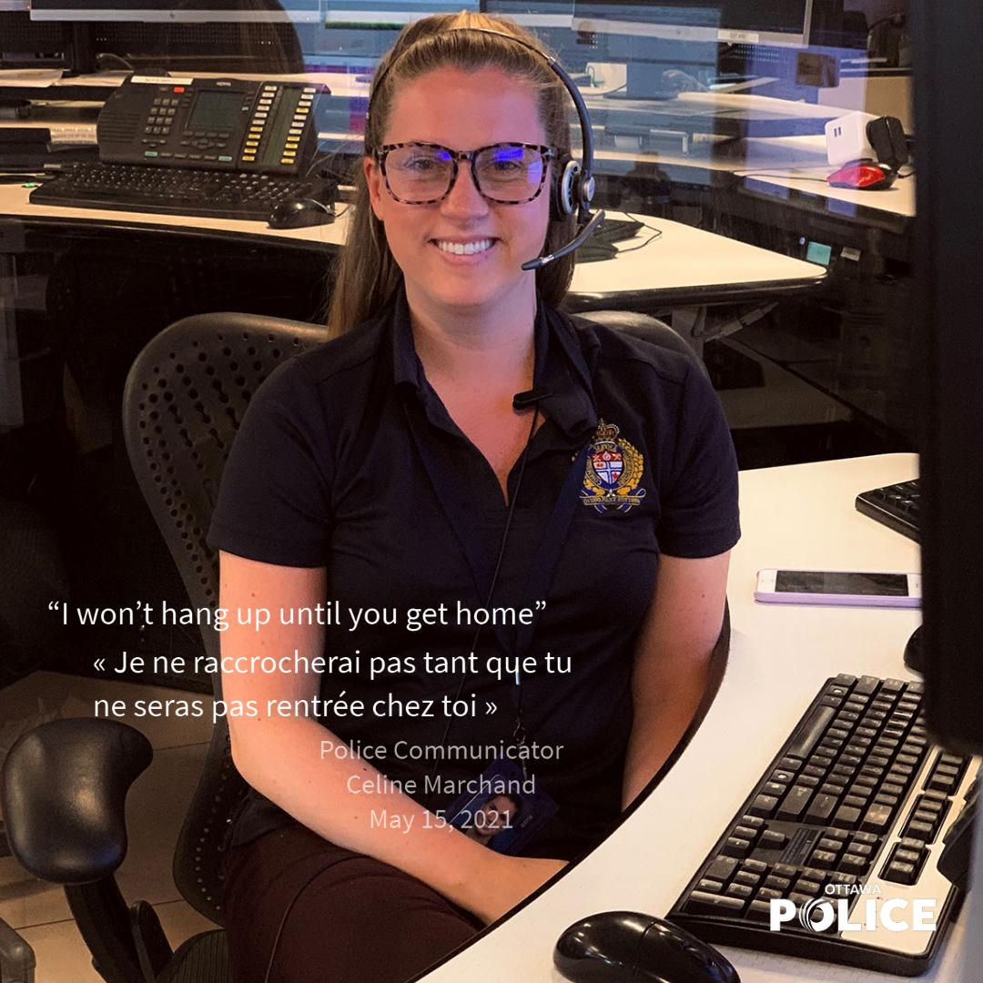 Police Communicator Celine Marchand