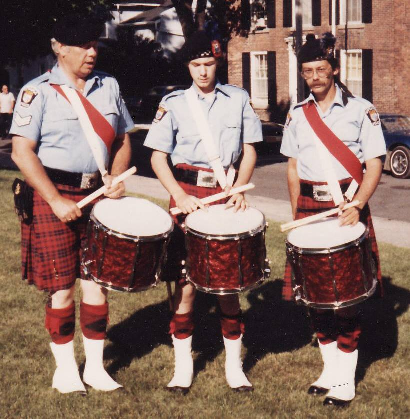 OPS Pipe and Drum band founder Cst. David Grant